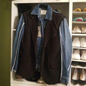 Zara jeans jacket with blazer combo